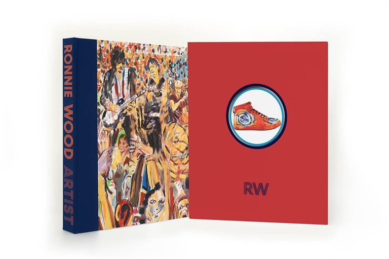 British Ronnie Wood: Artist, Limited Edition Signed Book and Print Set For Sale