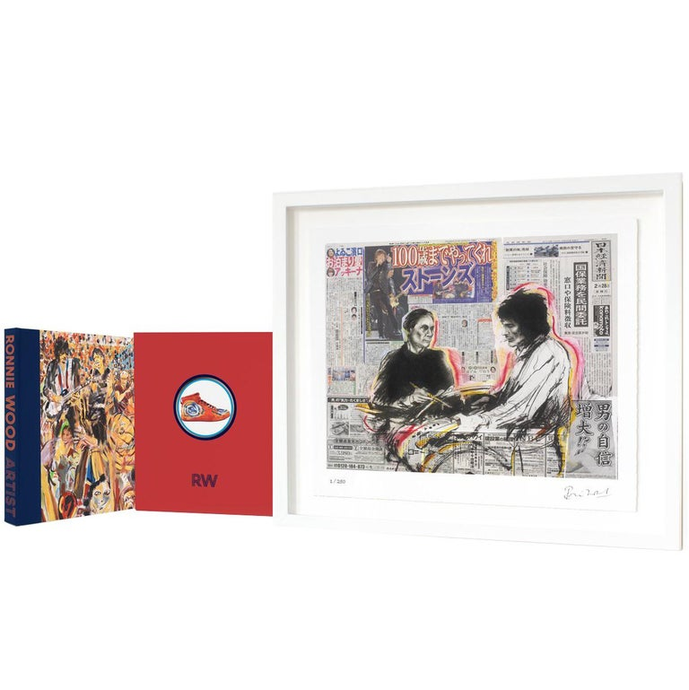 Ronnie Wood: Artist, Limited Edition Signed Book and Print Set For Sale