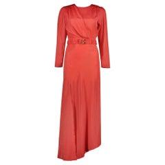 Ronny Kobo Carmen Ruched Belted Silk Blend Midi Dress