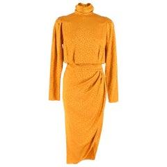 Ronny Kobo kaira Leopard print orange dress XS