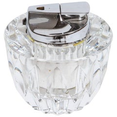 Ronson Crystal Table Lighter, Made in France