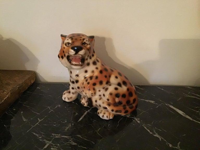 Ronzan baby tiger ceramic, 1950, Italy.