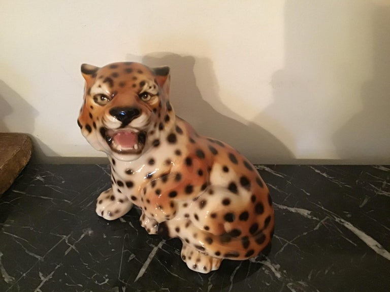 Mid-20th Century Ronzan Baby Tiger Ceramic, 1950, Italy  For Sale