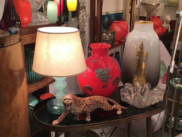 "Ronzan ""Giaguaro"" Ceramic Sculpture, 1950, Italy For Sale 1"