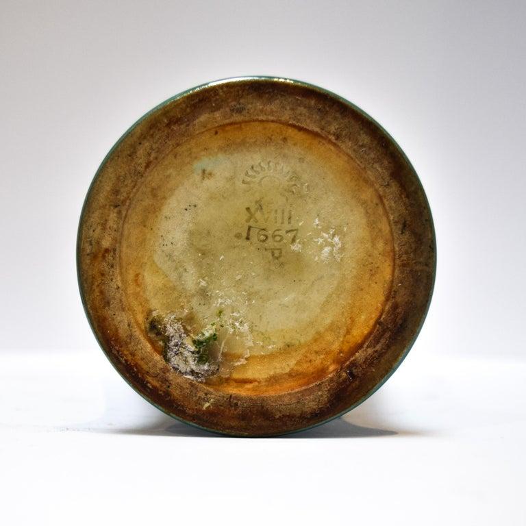 American Rookwood Blue Mackintosh Rose Vase For Sale