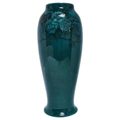Rookwood Blue Mackintosh Rose Vase