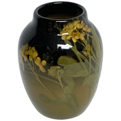 Rookwood Iris Glaze Floral Motif Vase, by Grace Young, 1901