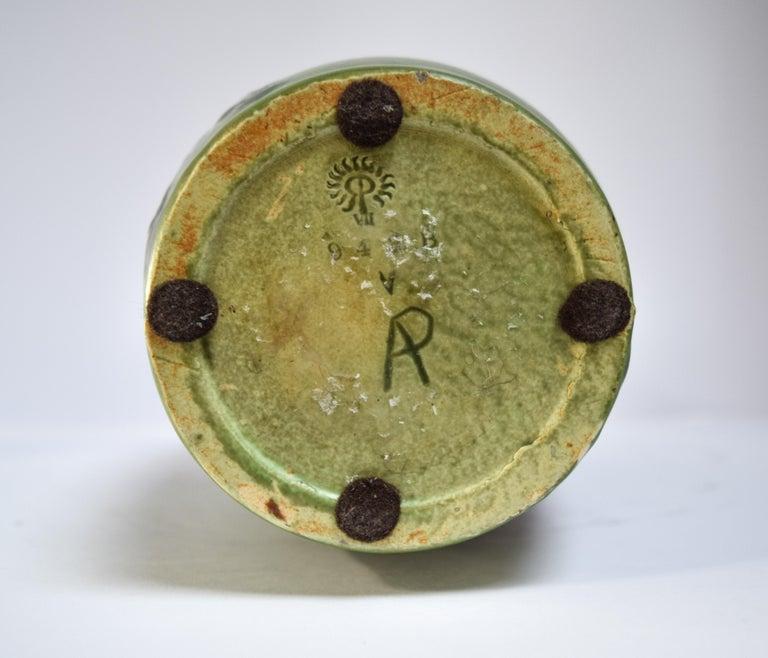 Rookwood Iris Relief Vase, Albert Pons In Good Condition For Sale In Bloomfield Hills, MI