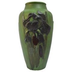 Rookwood Iris Relief Vase, Albert Pons