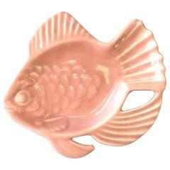 Rookwood Pink Pottery Aloha Fish Candy Dish