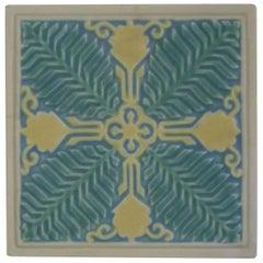 Rookwood Pottery Ceramic Arts & Crafts Trivet, 1924