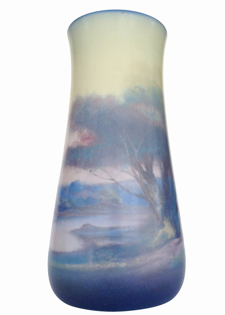 Early 20th Century Rookwood Pottery Vellum Glaze Vase, circa 1925 For Sale