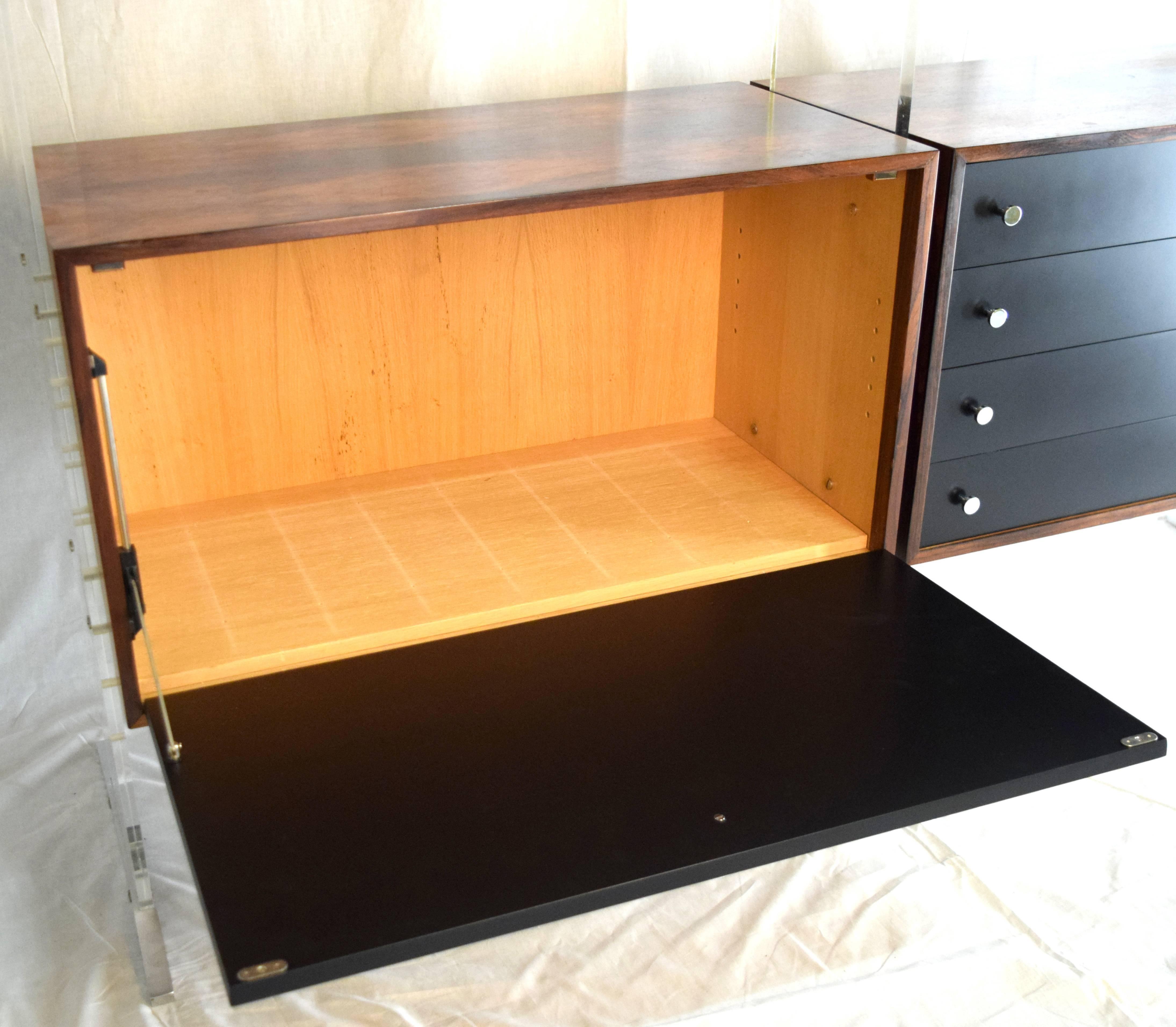Room Divider And Storage Cabinet System By Poul Nørreklit, Denmark