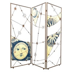 Room Divider Screen Paravant Italy, circa 1955