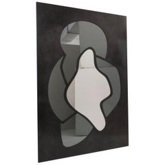 Room for Irregularities Contemporary Floor Smoked Grey Mirror by Walac Studio
