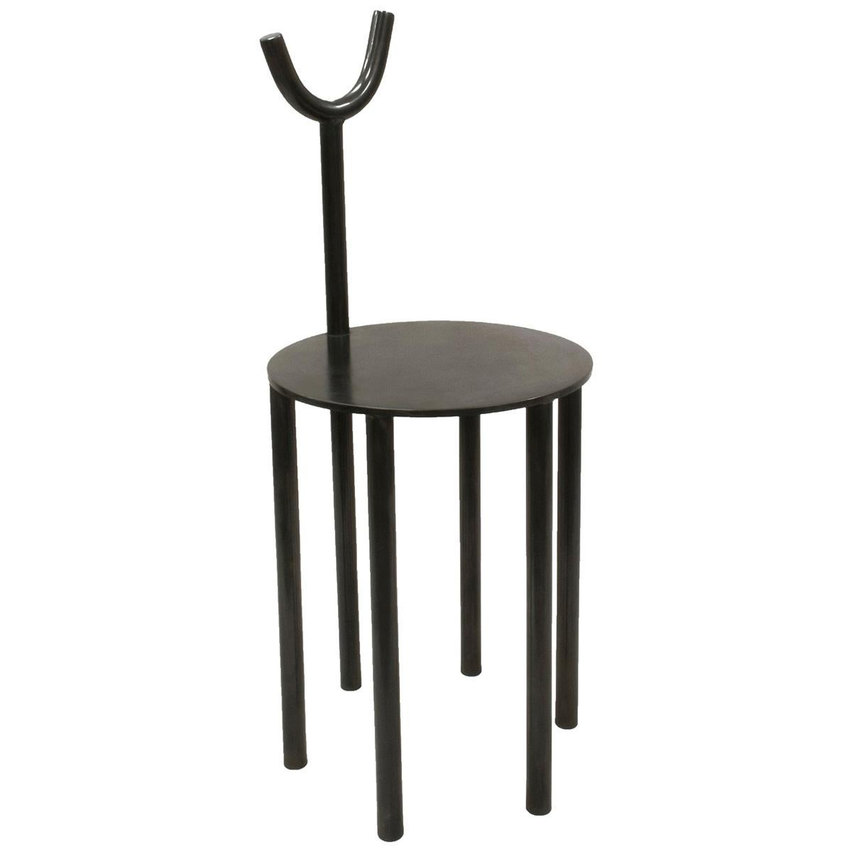 Room for Irregularities Contemporary Side Chair in Steel by Walac Studio