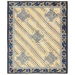 Room Size Antique Chinese Rug. Size: 8 ft x 9 ft 5 in (2.44 m x 2.87 m)