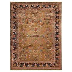 Room Size Antique Indian Rug. Size: 9 ft 3 in x 12 ft (2.82 m x 3.66 m)
