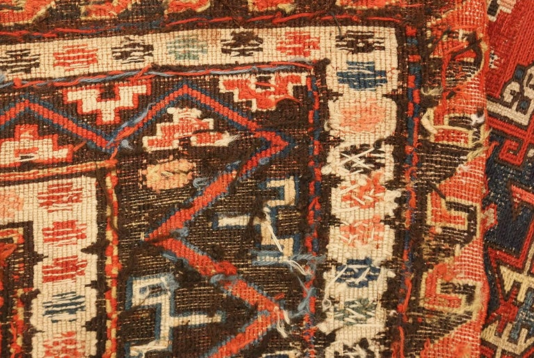 Beautiful Room Size Antique Soumak Caucasian Rug, Country of Origin / Rug Type: Caucasian Rug, Circa Date: 1900 – Size: 8 ft 2 in x 10 ft 2 in (2.49 m x 3.1 m).