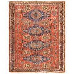 Room Size Antique Soumak Caucasian Rug. Size: 8 ft 2 in x 10 ft 2 in