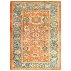 Room Size Antique Sultanabad Persian Rug. Size: 10 ft 4 in x 14 ft