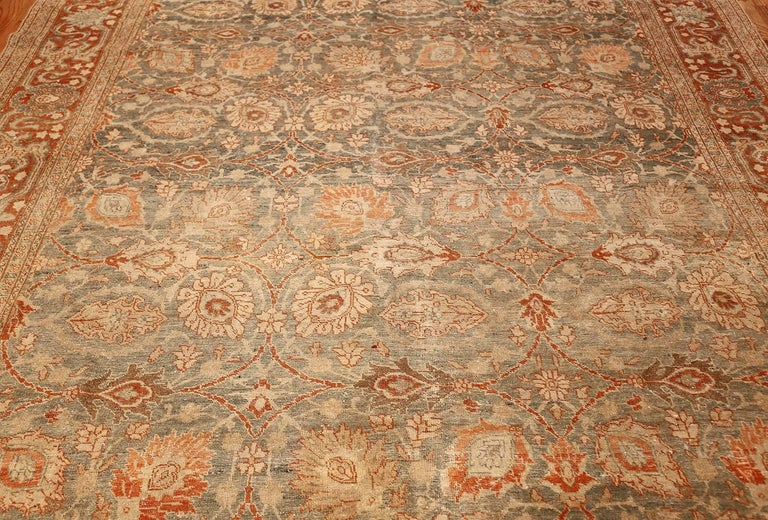 Room Size Antique Tabriz Persian Rug. Size: 7 ft 6 in x 10 ft 10 in  In Good Condition For Sale In New York, NY