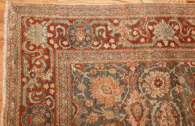 Wool Room Size Antique Tabriz Persian Rug. Size: 7 ft 6 in x 10 ft 10 in  For Sale