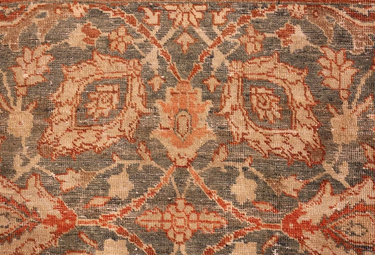 Room Size Antique Tabriz Persian Rug. Size: 7 ft 6 in x 10 ft 10 in  For Sale 1