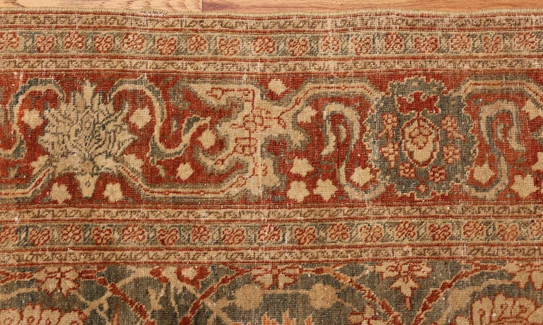Room Size Antique Tabriz Persian Rug. Size: 7 ft 6 in x 10 ft 10 in  For Sale 3
