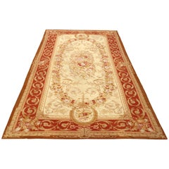 Room Size French Aubusson Tapestry Rug, 20th Century