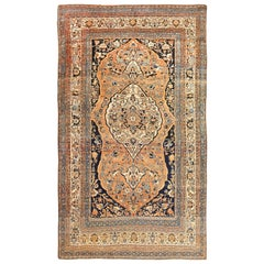 Room Size Persian Tabriz Antique Rug. Size: 7 ft x 12 ft