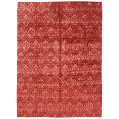 Room Size Red Contemporary Tibetan Rug