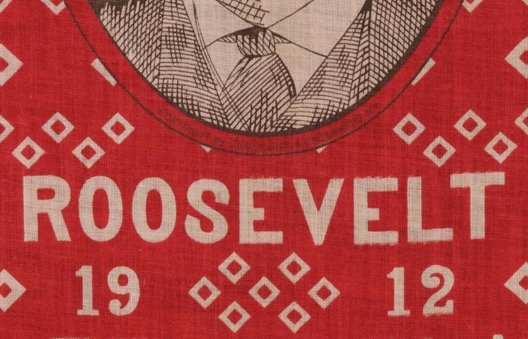 Roosevelt Battle Flag Kerchief, Made for the 1912 Presidential Campaign In Good Condition For Sale In York County, PA