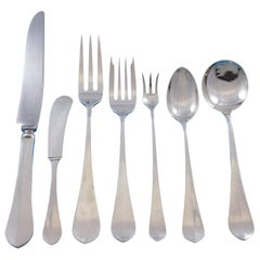 Roosevelt by Porter Blanchard Sterling Silver Flatware Set Service 76 Pcs Dinner