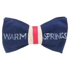 Roosevelt Era Warm Springs Georgia Novelty Bow Tie