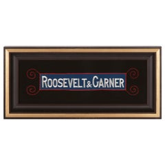 """Roosevelt & Garner"" Embroidered Armband Supporting the 1932 Democratic Ticket"