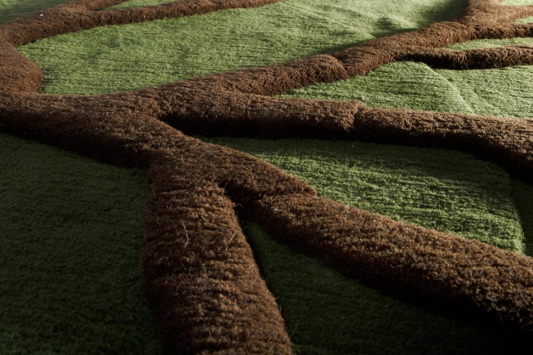 Modern Roots Carpet, Hand Knotted in Wool, 100 Kpi, Matali Crasset For Sale