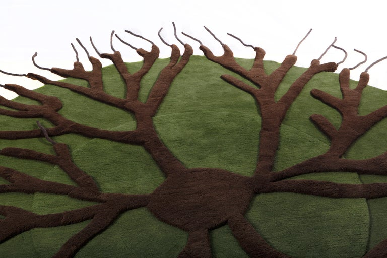 Roots Carpet, Hand Knotted in Wool, 100 Kpi, Matali Crasset In New Condition For Sale In Milan, Lombardy
