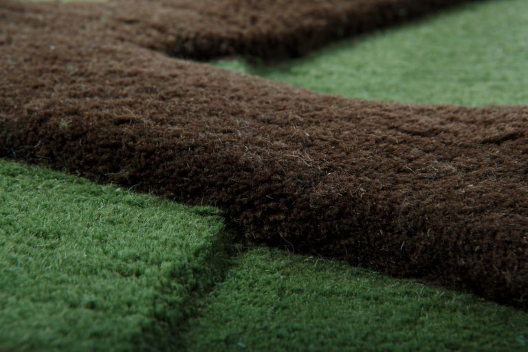 Contemporary Roots Carpet, Hand Knotted in Wool, 100 Kpi, Matali Crasset For Sale