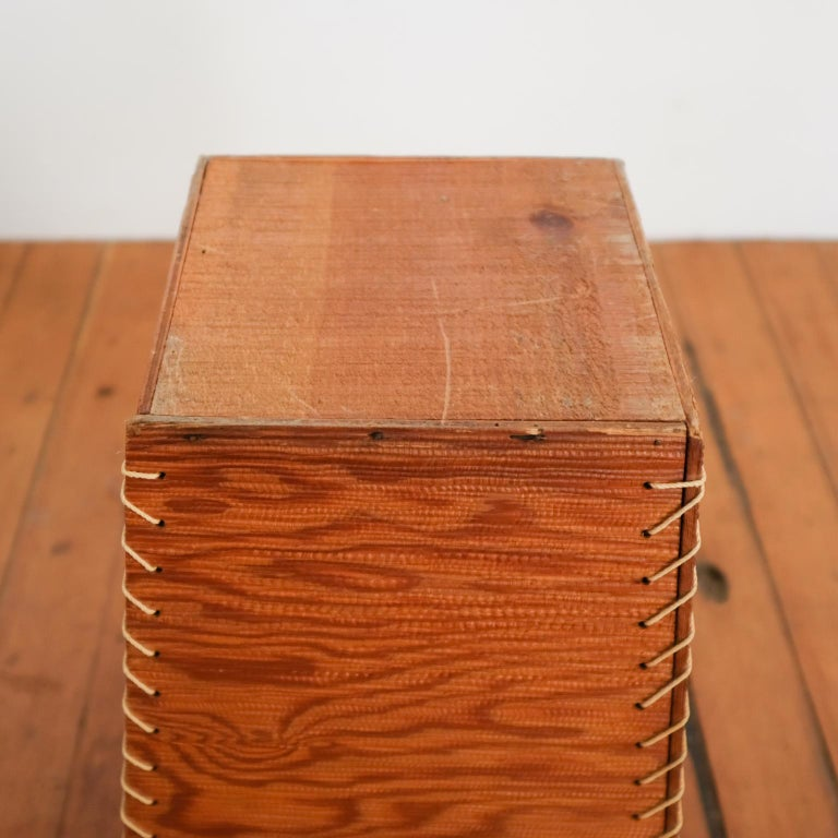 Rope and Wood Wastepaper Basket, 1950s For Sale 1
