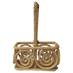 Rope Bottle Carrier Audoux Minet, circa 1950