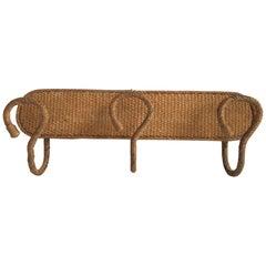 Rope Coat Rack Audoux-Minet, circa 1960