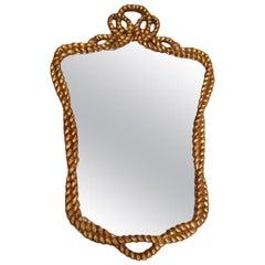 Rope Design Giltwood Mirror