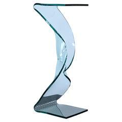 """Rope"" Display Glass Pedestal by Laurel Fyfe, Late 20th Century"