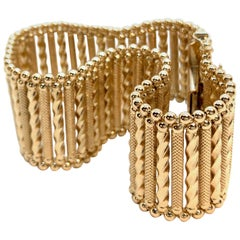 Rope Ladder Cuff Bracelet in 18 Karat Yellow Gold by UnoAErre