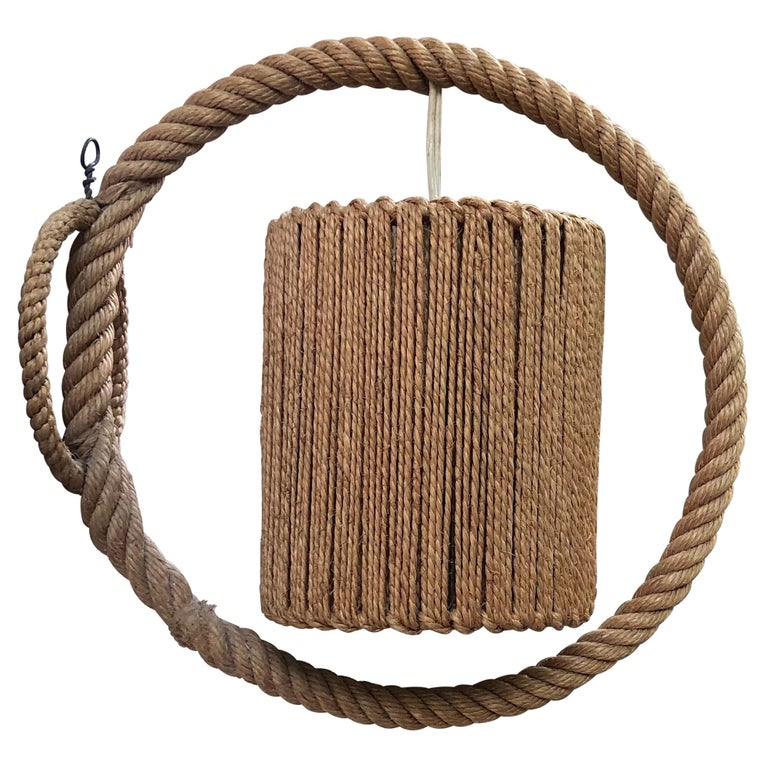 Rope Sconce Audoux Minet, circa 1960 For Sale