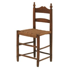 Rope Seat Ladderback Dining Chair