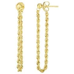 Rope Stud Earrings, Gold, Ben Dannie