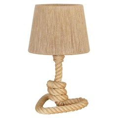 Rope Table Lamp by Audoux-Minet