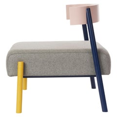 Roque Lounge Chair, Melton Wool and Eco-Friendly Powder Coated Steel Frame